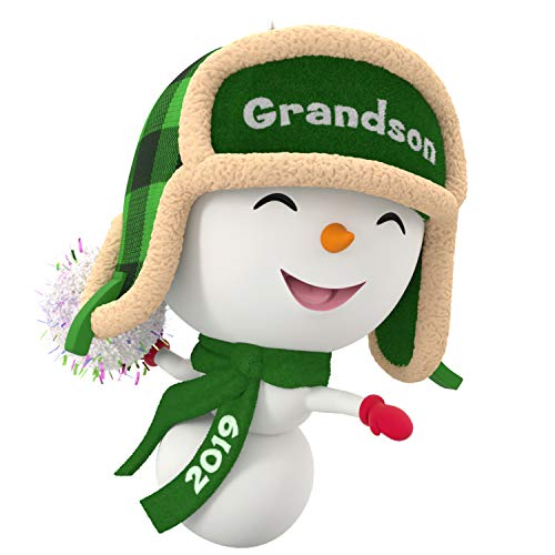 Hallmark Keepsake Christmas Ornament 2019 Year Dated, Grandson Snowman