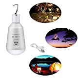 Portable Led Bulb Outdoor Camping Lights Rechargeable LED Bulb Light for Camping Hiking Fishing Emergency by Yibaina
