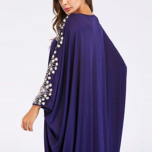 Blue Turkish Oversized Style Kaftans Dress for Long Zhuhaitf Islamic Fashion Abaya Caftan Elegant Women Boho Clothing 1 ZgqwUS