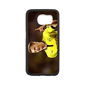 Samsung_galaxy_s6 Phone Case,Handsome Marco Reus background design, clear print portable dust Phone Case(Hard shell,Black)