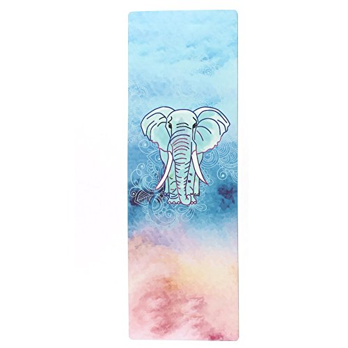 Seatopia Extra Thick Suede Yoga Mat 72X24 Inch Breathe Freely & Absorb Sweat Towel High Density Pilates Floor Non Slip Eco-friendly Anti-Tear Exercise Mat for Hot Yoga Bikram Yoga Pilates