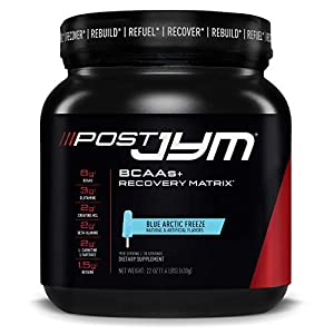 Post JYM Active Matrix, Post-Workout with BCAA's, Glutamine, Creatine HCL, Beta-Alanine and More, JYM Supplement Science, Blue Arctic Freeze, 30 Servings, 22 Oz