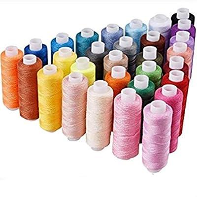 30 colores Hilos de Coser,AZX,Bobina de hilo de coser 250 yardas ...