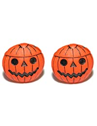 Pumpkin Jack O Lantern Halloween Clip On Earrings (H090clip)