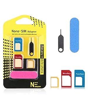 Offershop Oferta Adaptador SIM Card Kit 5 en 1 Tarjeta Nano ...