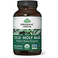 ORGANIC INDIA Tulsi - Holy Basil, Made with Certified Organic Herbs, 180 Veg Capsules