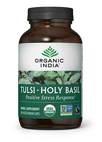 ORGANIC INDIA Tulsi - Holy Basil, 180 Veg Capsules (The Dark Side Of Interpersonal Relationships Includes)