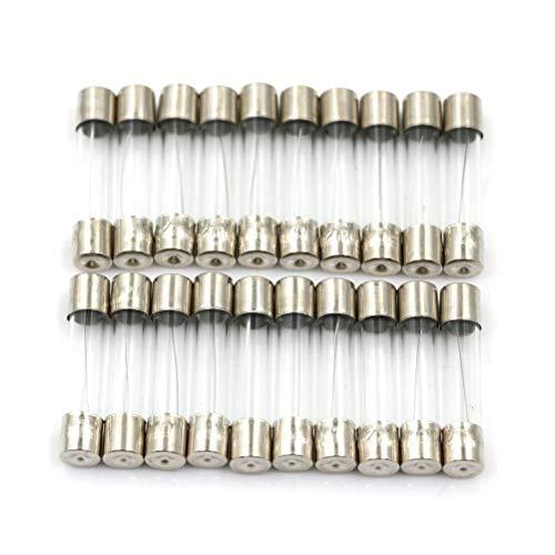 20pcs 6x30 630mm 250V 5A/10A/15A/20A Quick Fast Blow Fuse Glass Tube Fuses - (AMP: 20A) ()