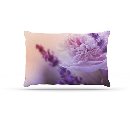 30 by 40\ Kess InHouse Monika Strigel Peonyand Lavender  Pink Purple Fleece Dog Bed, 30 by 40