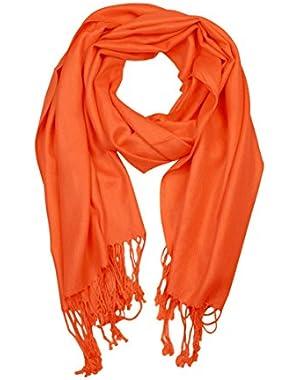 Large Solid Color Pashmina Shawl Wrap Scarf 80