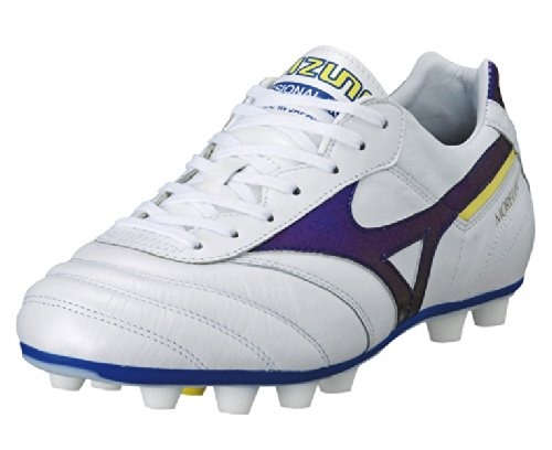 Mizuno Morelia MD Football Shoes Men white - purple - yellow aoifS7ag3