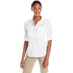Columbia Women's Cascades Explorer Long Sleeve Shirt, White, X-Large