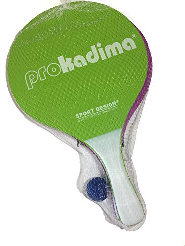 Pro Kadima Beach Paddles Purple/Lime Green