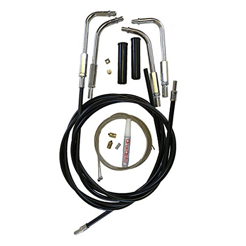 Venhill U01-4-402-BK Harley-Davidson V-Twin Motorcycle Throttle and Idle Cable Kit (Two Cables, Push in Bends) (Kit Idle Cable)