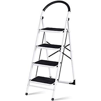Giantex Stepladder 4 Step Folding Ladder Step Stool