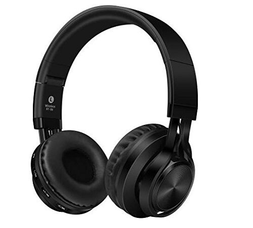 SNOHE Over Ear Headphone,Stereo Wireless Headset with Memory-Protein Earmuffs, Lightweight & Foldable Wired/Wireless Bluetooth Headphones for Cell Phone/ TV/ PC,Black