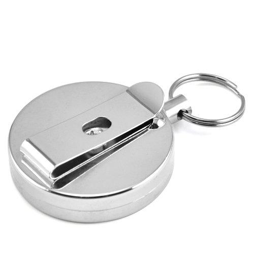 TOOGOO (R) Portachiavi Cintura clip catena retrattile in acciaio