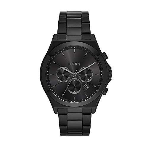 - DKNY Men's Parsons Quartz Watch with Stainless-Steel-Plated Strap, Black, 22 (Model: NY1603)