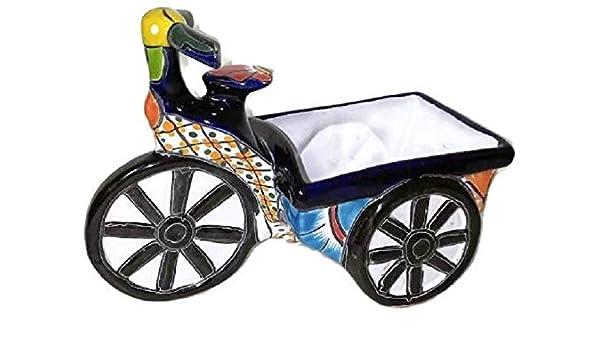 Talavera - Macetero para bicicleta: Amazon.es: Jardín