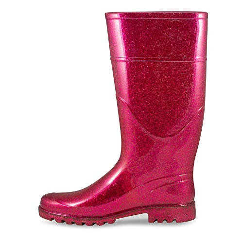 Pictures of Twisted Women's Drizzy Jelly Rain Boots- Fuchsia 8 M US 2