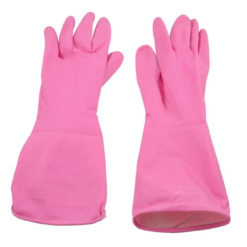 uxcellr-household-antislip-rose-clean-wash-reusable-latex-dishwashing-gloves-2-pcs-pink