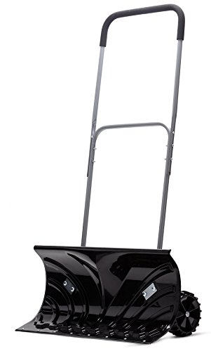 "Review Of Power Heavy Duty Rolling Snow Pusher with 6"" Pivot Wheels (Black Color)"