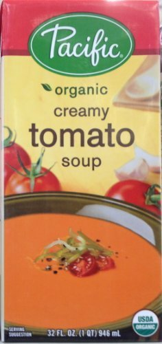 Pacific Organic CREAMY TOMATO Soup 32oz. (5 Pack) by Pacific Foods ()