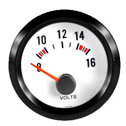 E Support™ 12V Auto Motore 2' 52mm Universale pointer Led blu indicatore di tensione Volt