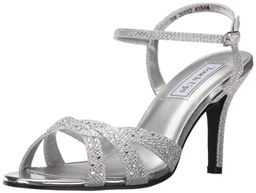 Touch Ups Women's Dulce Dress Sandal, Silver Shimmer, 9.5 M US