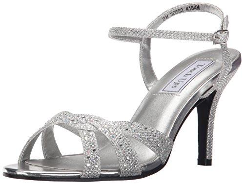 Touch Ups Women's Dulce Dress Sandal, Silver Shimmer, 9.5 M US