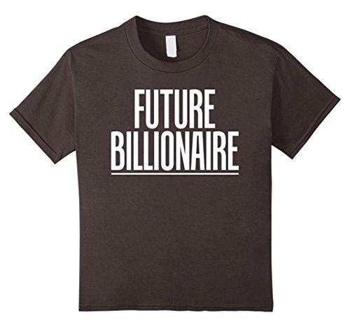 [Kids Future Billionaire Inspirational Motivational Gift T-Shirts 12 Asphalt] (Billionaire Boy Costume)