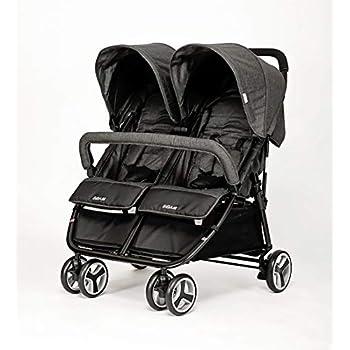 Amazon Com Biba Double Stroller Charcoal Baby