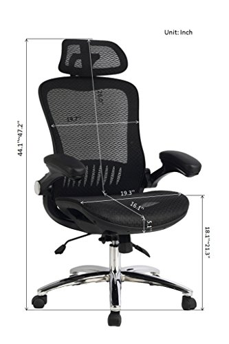 Viva Office High Back Mesh Executive Chair With Adjustable