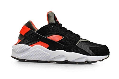 Nike Air Huarache, Scarpe da Ginnastica Uomo black/hyper punch-iron green 063