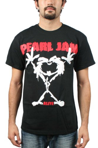 Pearl Jam Stick Man Men's T-Shirt - Black (Large)