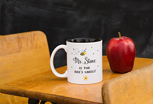 Personalized Great Teacher Appreciation Gifts Mugs for Men and Women 11oz - Unique Thank You Gifts for Teachers (Stone Design)