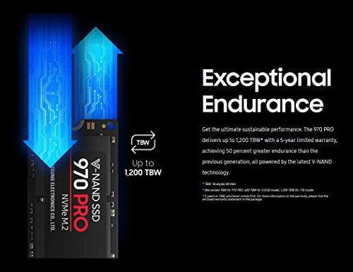 Samsung 970 PRO 512GB - NVMe PCIe M.2 2280 SSD (MZ-V7P512BW)