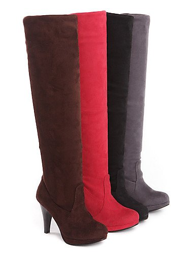 Stiletto Semicuero Tacón 5 Negro Marrón Eu39 7 Uk4 Rojo De 5 Punta us6 Eu37 Cn39 Cn37 Gray Gris Botas Red Mujer Xzz Zapatos Vestido us8 5 Redonda Plegado Uk6 wvtPpq7Iq