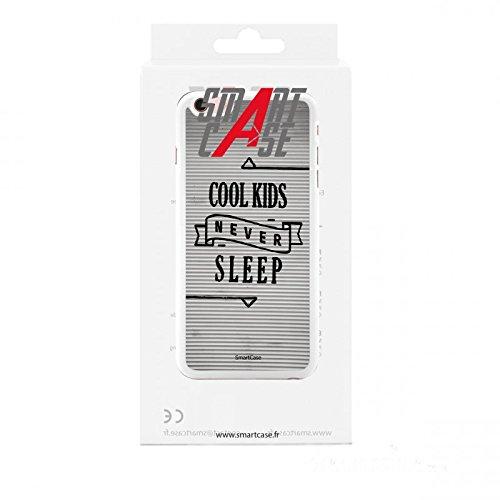 Coque + Verre Trempé pour iPhone 6/6S SmartCase® COOL KIDS NEVER SLEEP