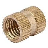 ZJchao Brass Threaded Insert Nuts, M6 Cylinder