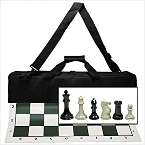 Wood Expressions Deluxe Tournament Chess Set With Canvas Bag And Triple Weighted Chessmen from WE Games