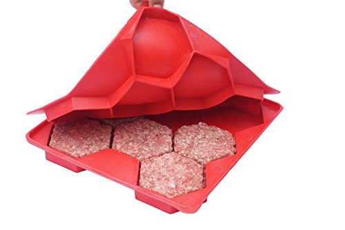 Shape+Store Burger Master 8-in-1 Innovative Burger Press, 8-Patty, Red