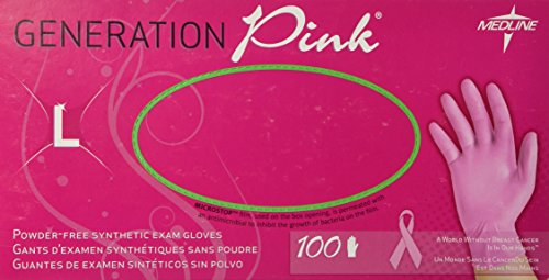 - Generation Pink Stretch Vinyl Exam Gloves - Large - Box of 100