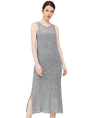 Mango Women's Stripe Textured Dress
