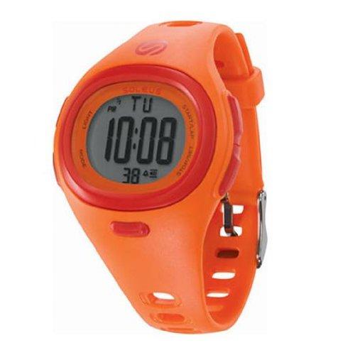 Soleus Men's SH005810 Heart Rate Monitor Orange Resin Digital Multi-Function HRM Watch
