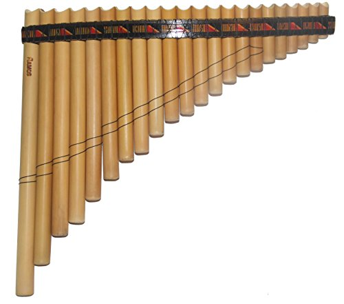 Bambu Pan Flute Antara 22 Pipes Artisan Handmade in Peru - C 440 Tuned - Case Included