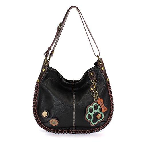 Shoulder Crossbody Teal Soft Paw Crossbody Black Casual or Style Large CHALA Black Hobo Handbag Bag vAwA8B