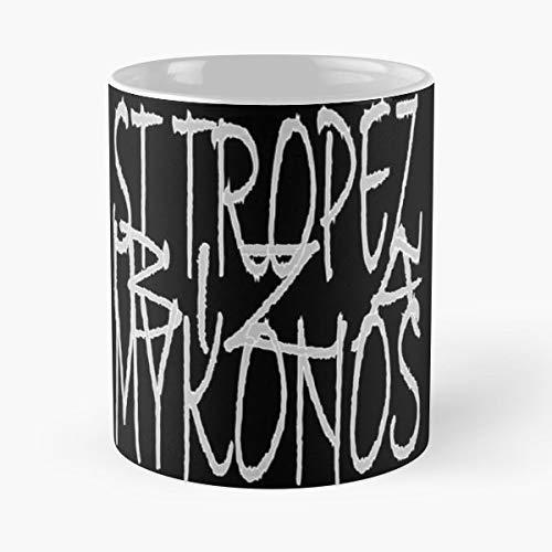 Holiday Places Ibiza St Tropez Mykonos - Handmade Funny 11oz Mug Best Holidays Gifts For Men Women Friends.