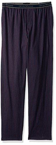 Emporio Armani Men's Jersey Printed Patterns Trousers, Vertical Line, L by Emporio Armani