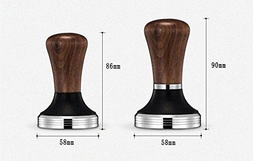 Diguo Elegance Wooden Coffee Tamper. Flat Espresso Tamper 58mm Portafilter. Stainless Steel Flat Height Adjustable Wooden Handle. Barista Espresso Tamper by Diguo (Image #7)